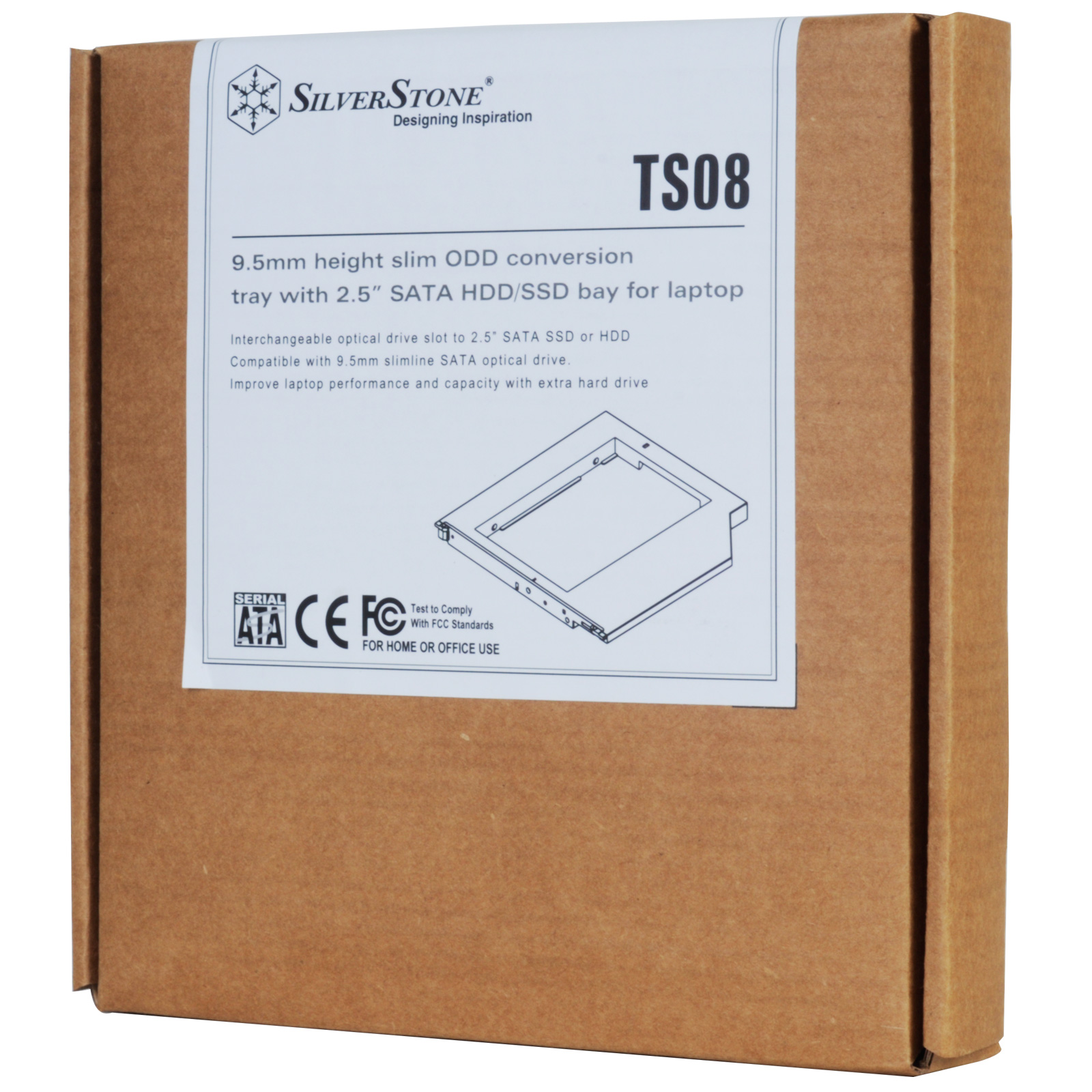 SilverStone TS08 ODD CONVERSION TRAY FOR LAPTOP 9.5MM HEIGHT