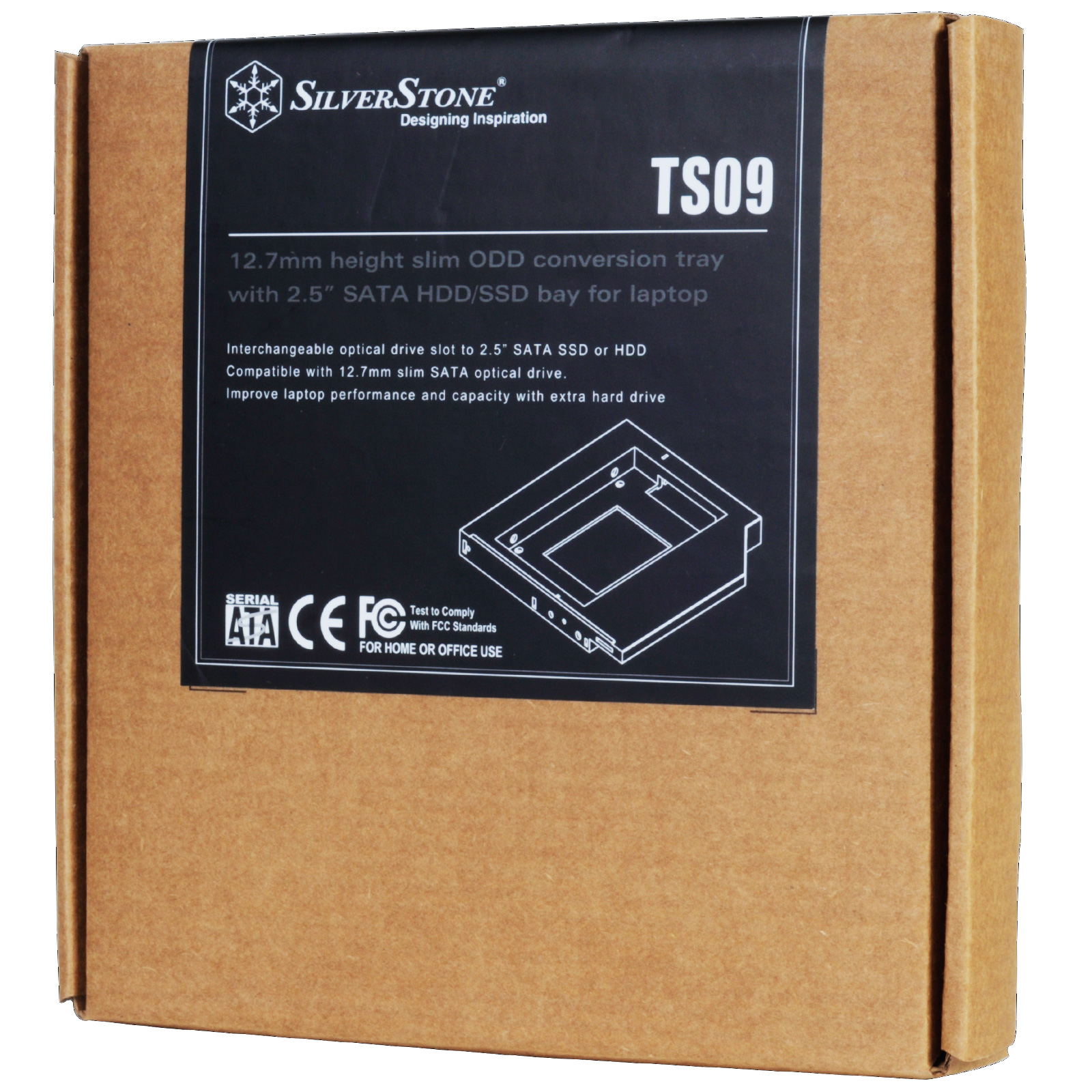 SilverStone TS09 ODD CONVERSION TRAY FOR LAPTOP 12.7 MM HEIGHT
